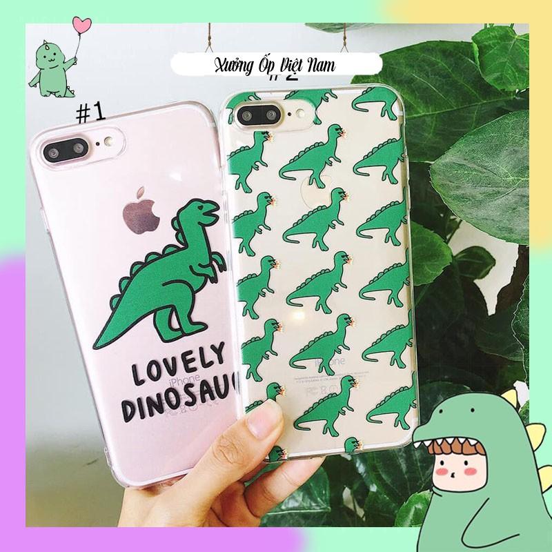 Ốp lưng iphone LoveLy DinoSaur 6 6S 6Plus 6S Plus 7 8 7Plus 8Plus X XSMax 11 ProMax XR - Xưởng Ốp Việt Nam M6