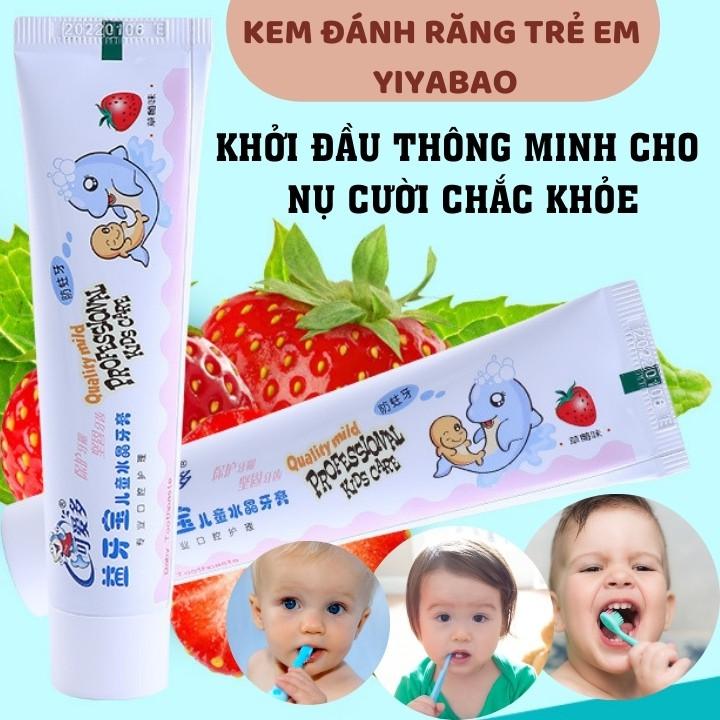 Kem Đánh Răng Trẻ Em Vị Hoa Quả Cho Bé Tập Đánh Răng