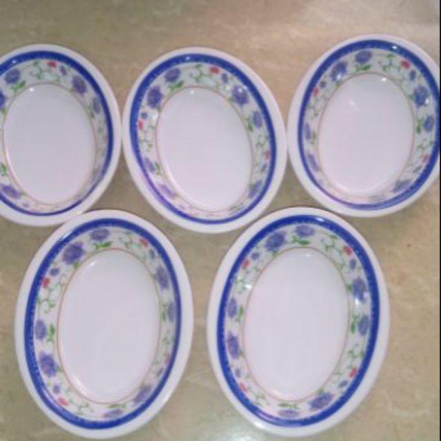 Set 5 đĩa xoài nhí đựng muối ớt