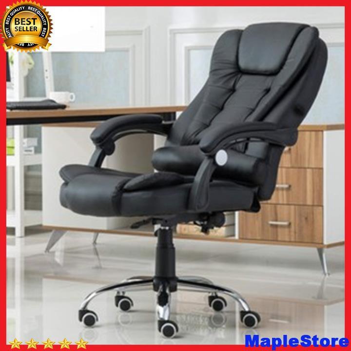 Ghế xoay văn phòng, gaming mátxa (sẵn hàng) có ngả lưng, không gác chân T148-2
