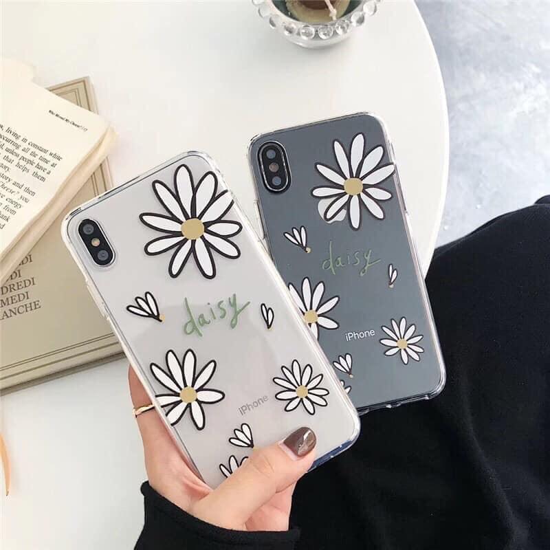 Ốp lưng iphone  Hoa Daisy 6 6S 6Plus 6S Plus 7 8 7Plus 8Plus X XSMax 11 ProMax XR - Xưởng Ốp Việt Nam M48