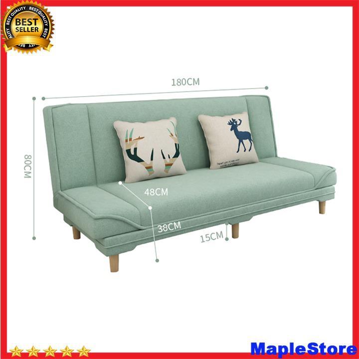 Sofa giường, giường gấp gọn thành ghế  [TẶNG KÈM 2 GỐI] kích thước 1m8x0.97m