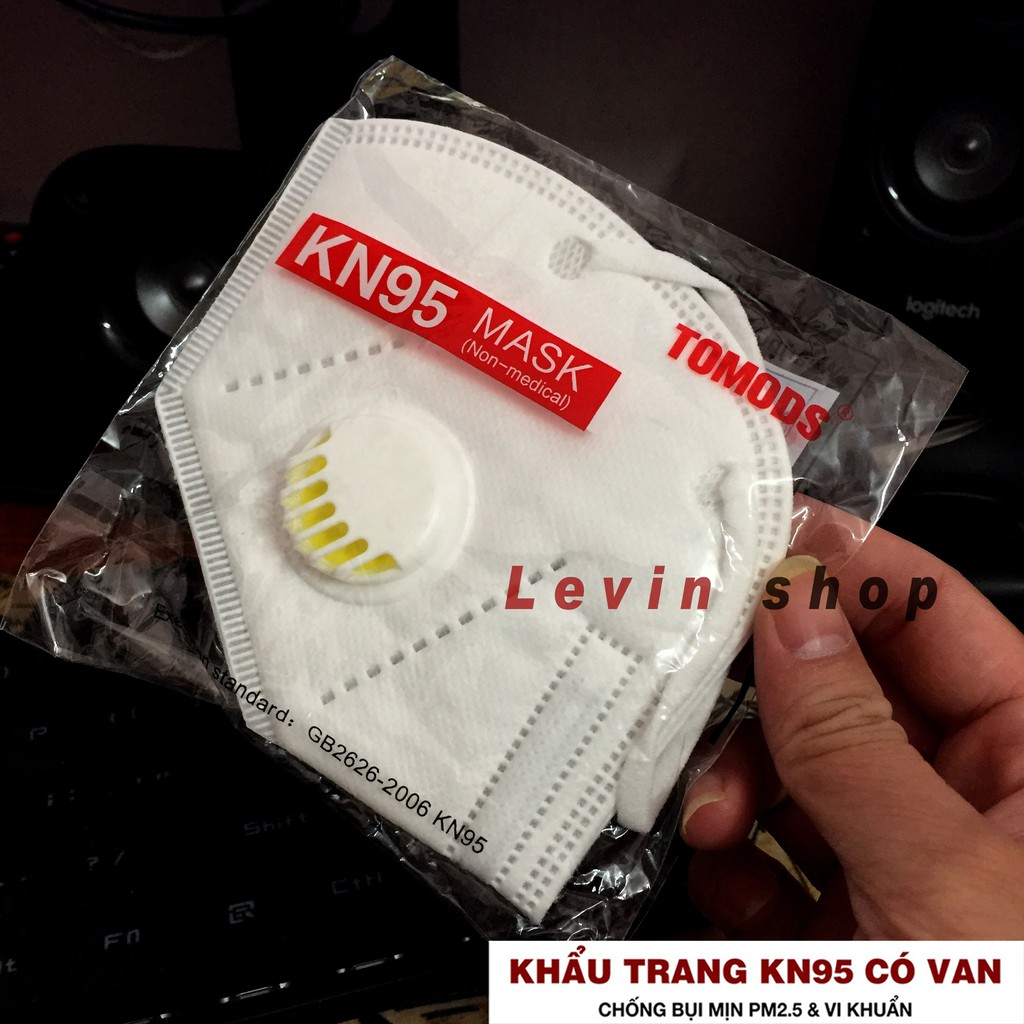 [Có van] Khẩu trang KN95 TOMODS chống bụi mịn PM2.5, kháng khuẩn [Combo 5 chiếc]